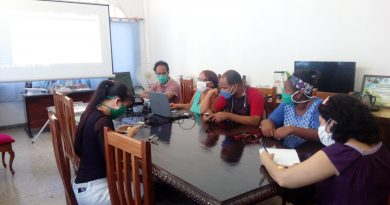 Reciben hoy Webinar sobre página web miembros del proyecto Corredor Biológico en el Caribe